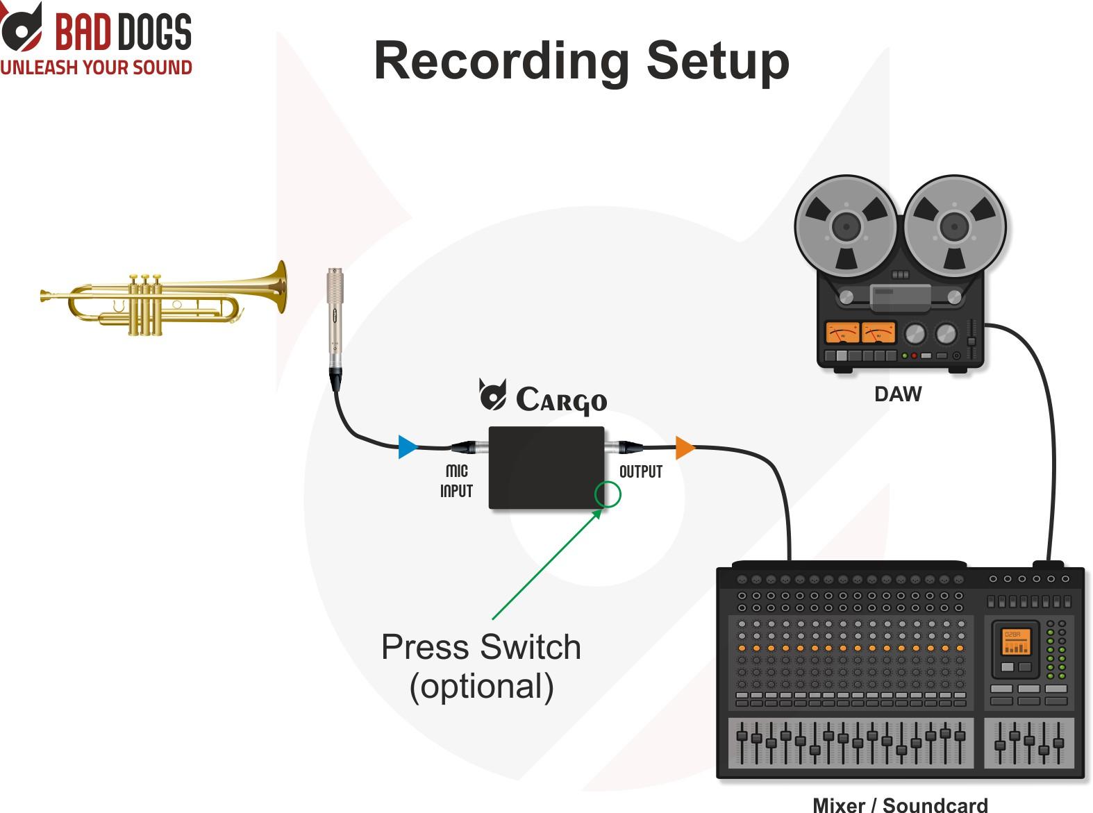 Cargo use case recording setup 2