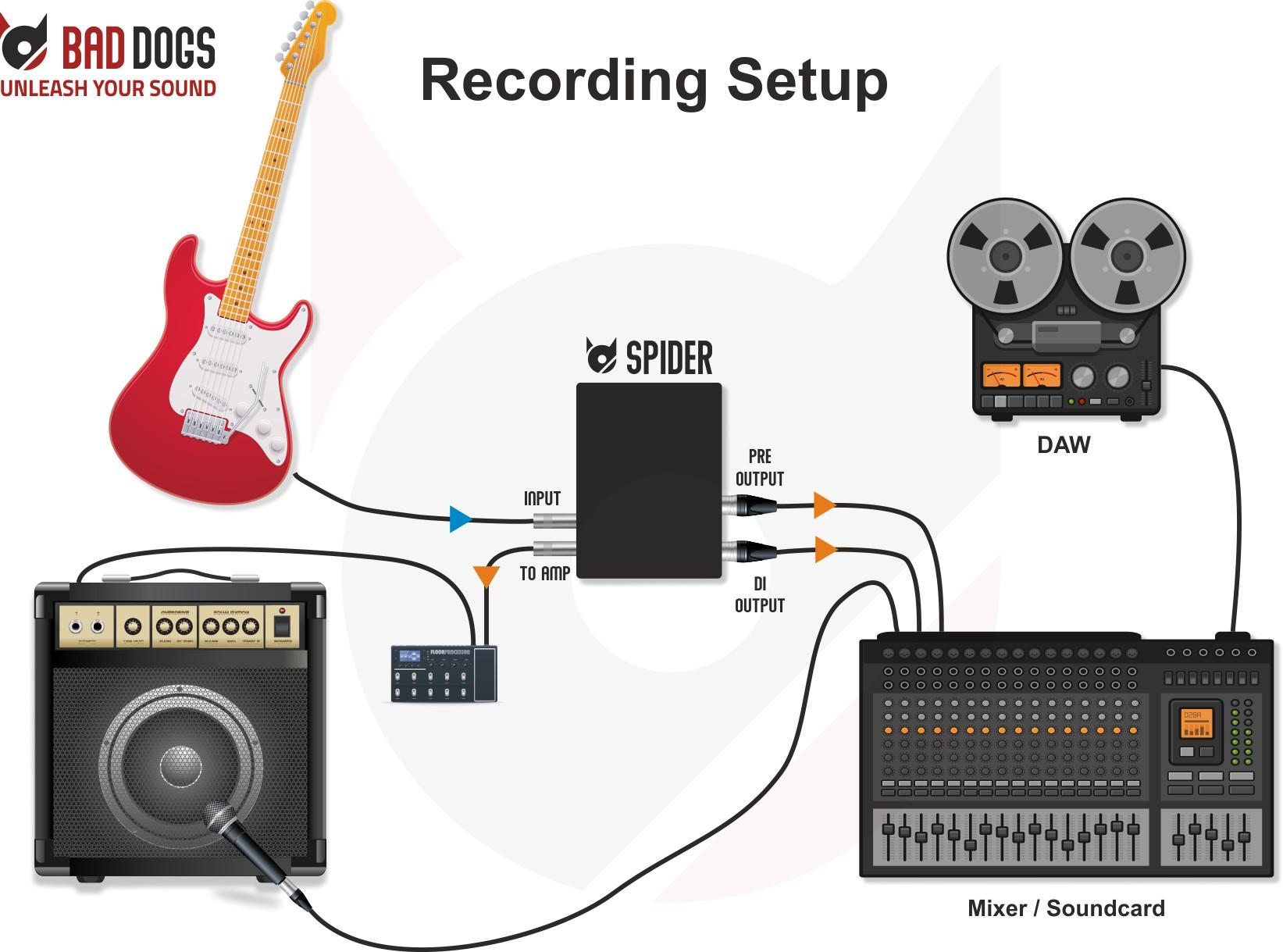 Spider Use Case Recording Setup
